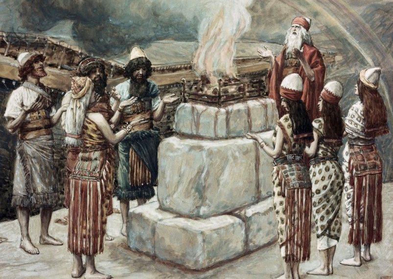 Noah's Sacrifice  James J. Tissot (1836-1902/French)  Jewish Museum, New York